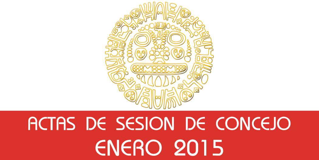 Actas de Sesión de Concejo – Enero 2015