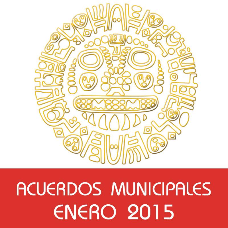 Acuerdos Municipales – Enero 2015