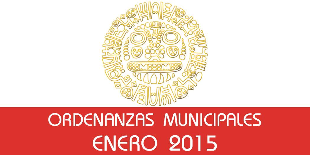 Ordenanzas Municipales – Enero 2015
