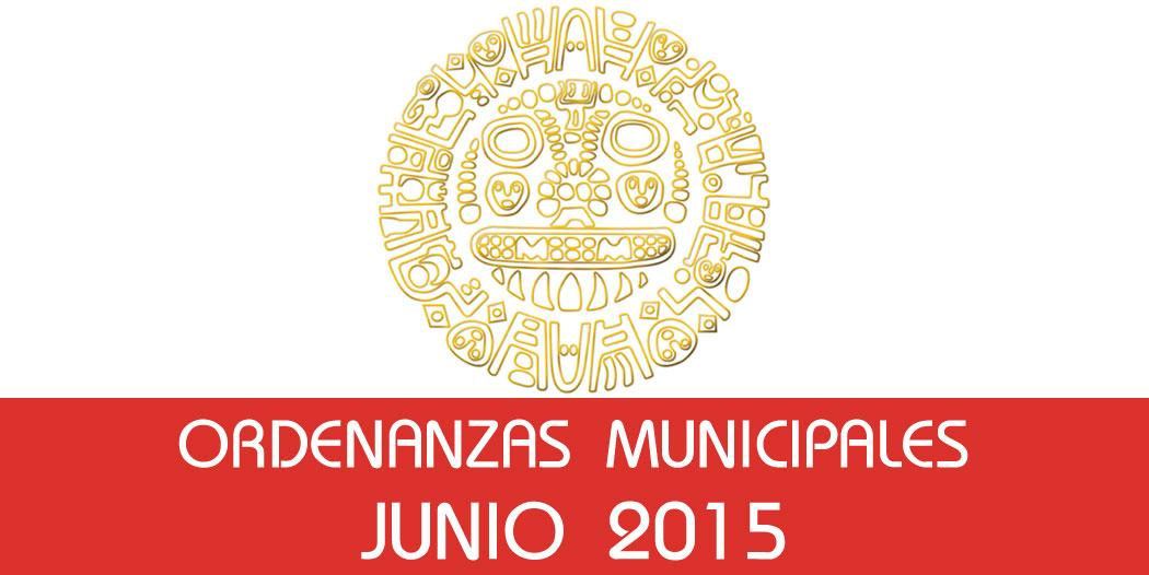 Ordenanzas Municipales – Junio 2015
