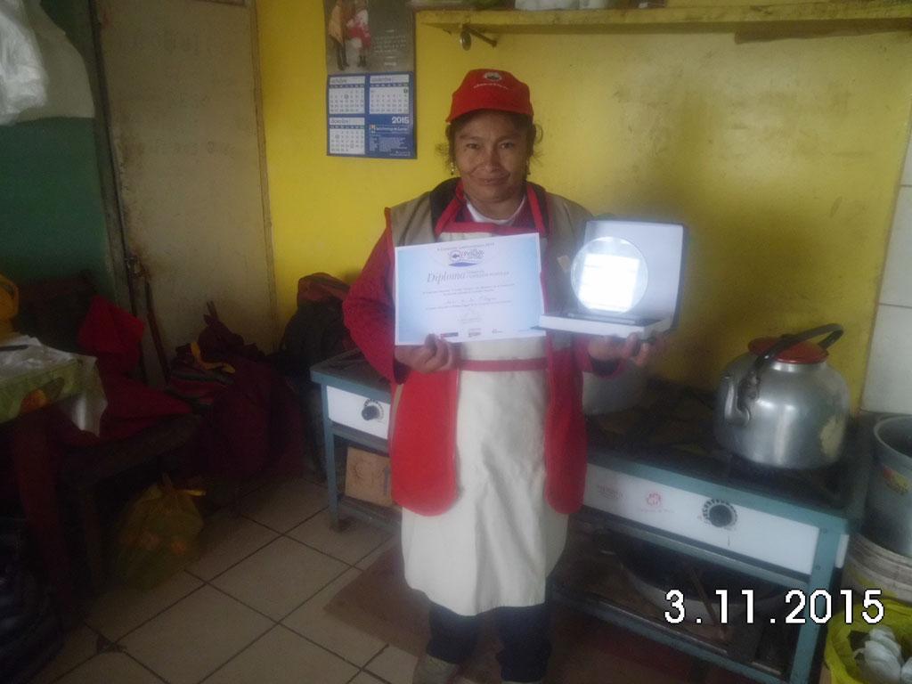 Premio al Comedor Popular Sr. De Los Milagros de Jaquira