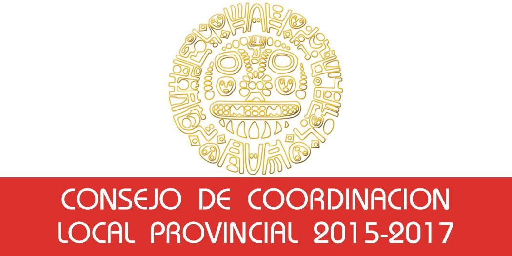 Resultado de Elecciones del Consejo de Coordinación Local Provincial 2015 – 2017