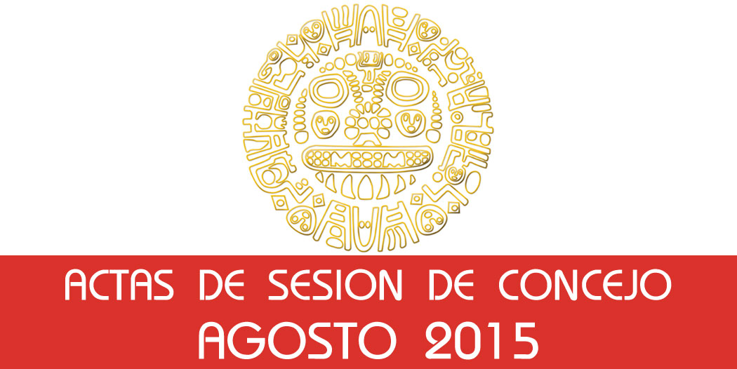 Actas de Sesión de Concejo – Agosto 2015