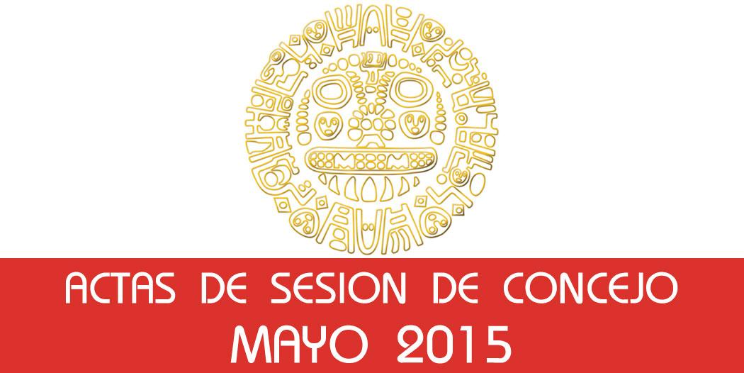 Actas de Sesión de Concejo – Mayo 2015