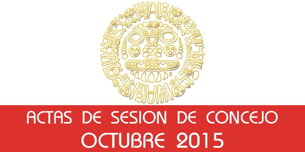 Actas de Sesión de Concejo – Octubre 2015