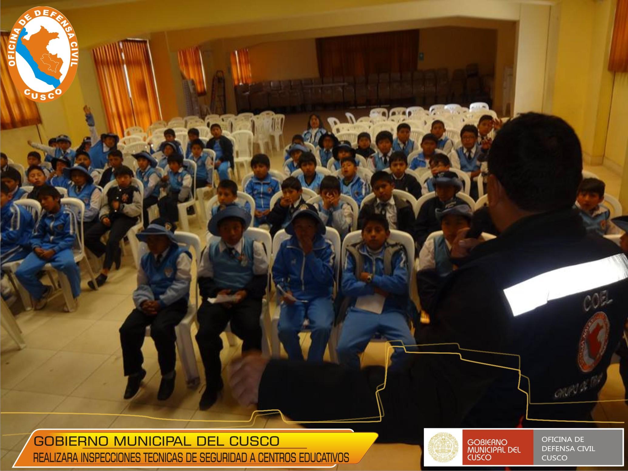 EL GOBIERNO MUNICIPAL DEL CUSCO INSPECCIONARA COLEGIOS