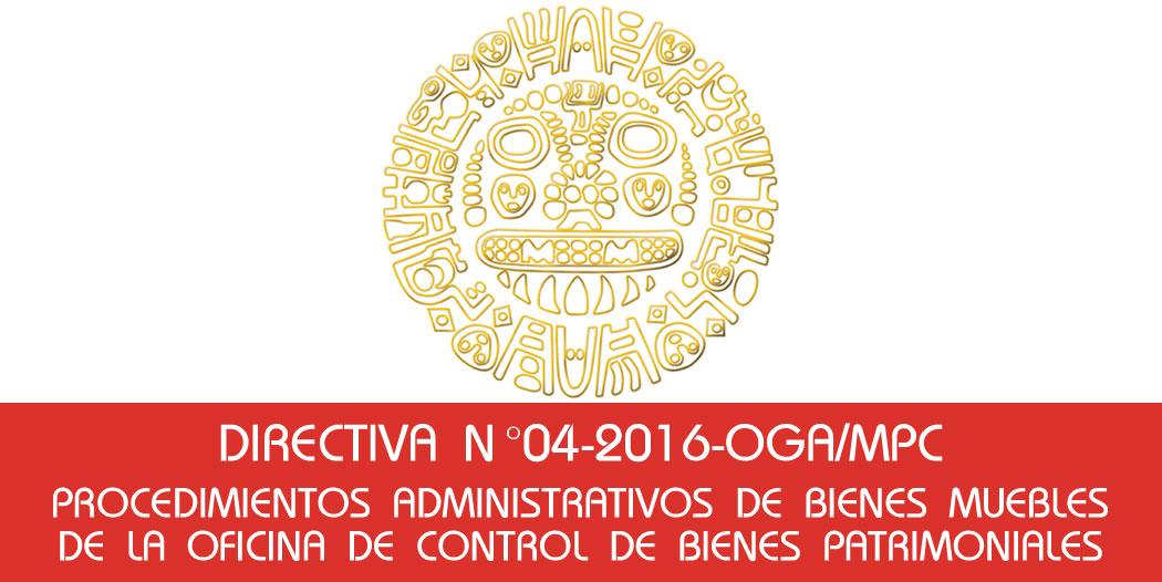 Procedimientos Administrativos de Bienes Muebles de la Oficina de Control de Bienes Patrimoniales