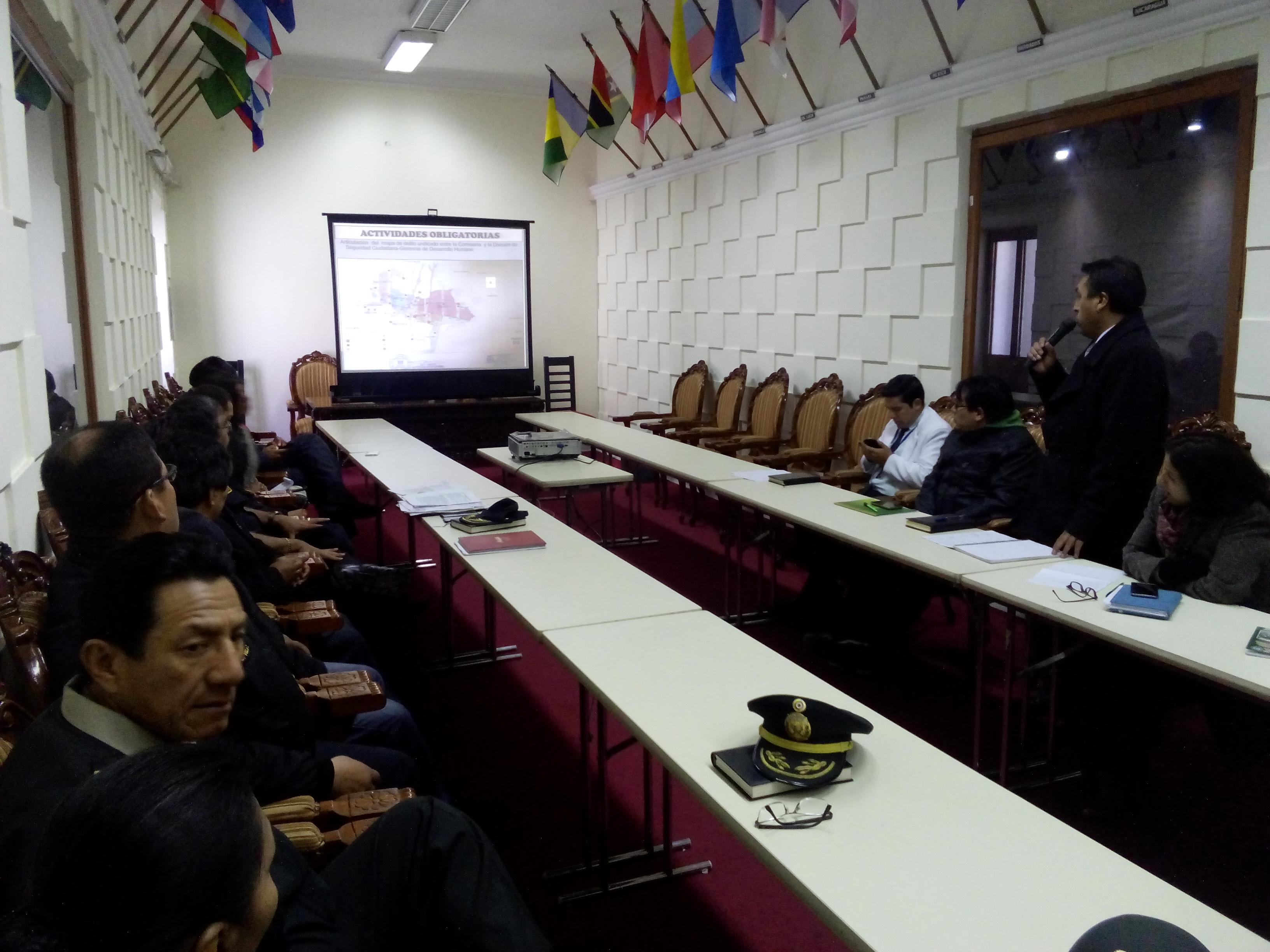 6º SESION ORDINARIA DEL COMITE DISTRITAL DE SEGURIDAD CIUDADANA 2016