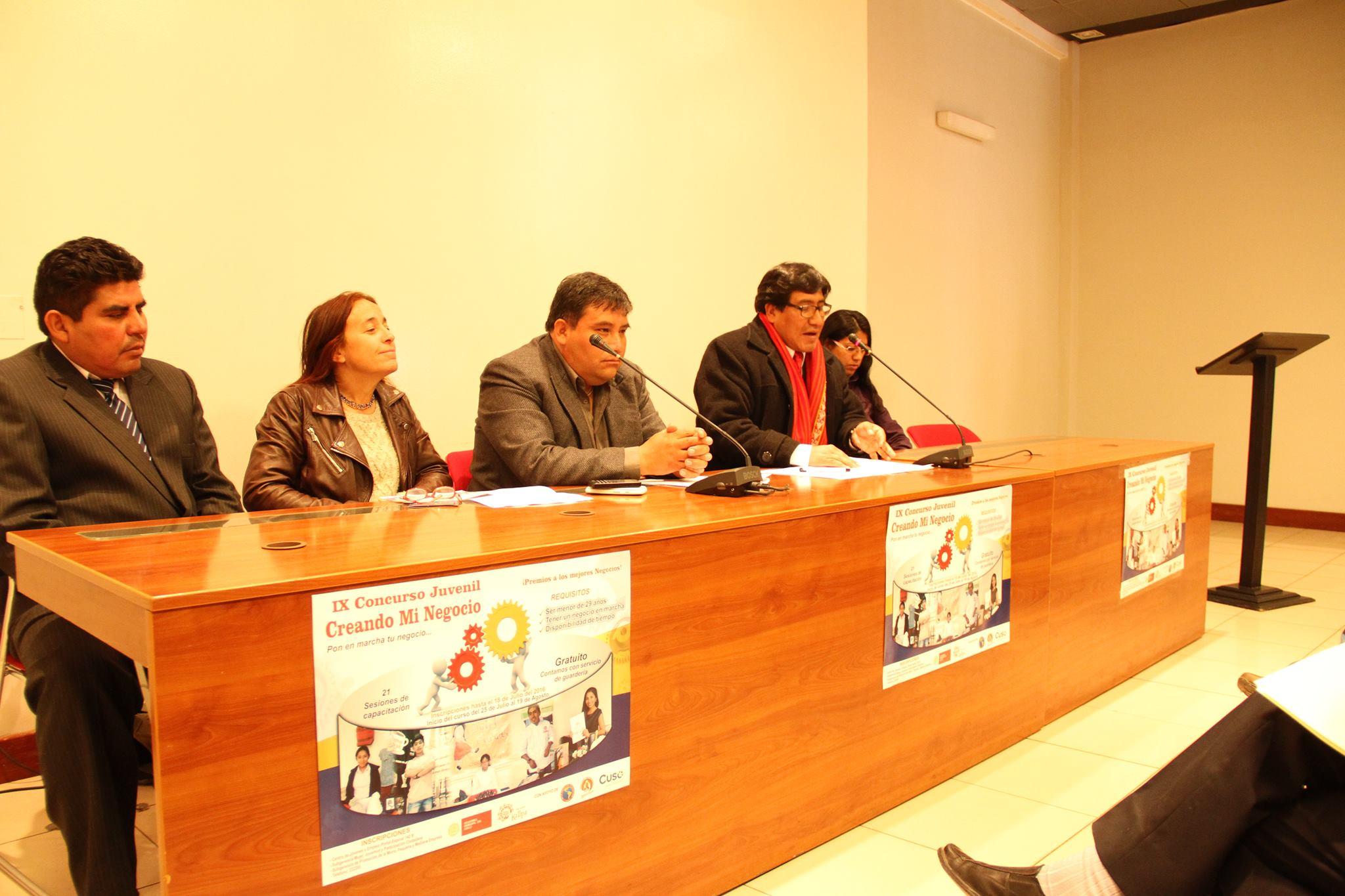 """MUNICIPALIDAD DEL CUSCO ORGANIZA LANZAMIENTO DEL IX CONCURSO DE EMPRENDIMIENTO JUVENIL """"CREANDO MI NEGOCIO"""""""