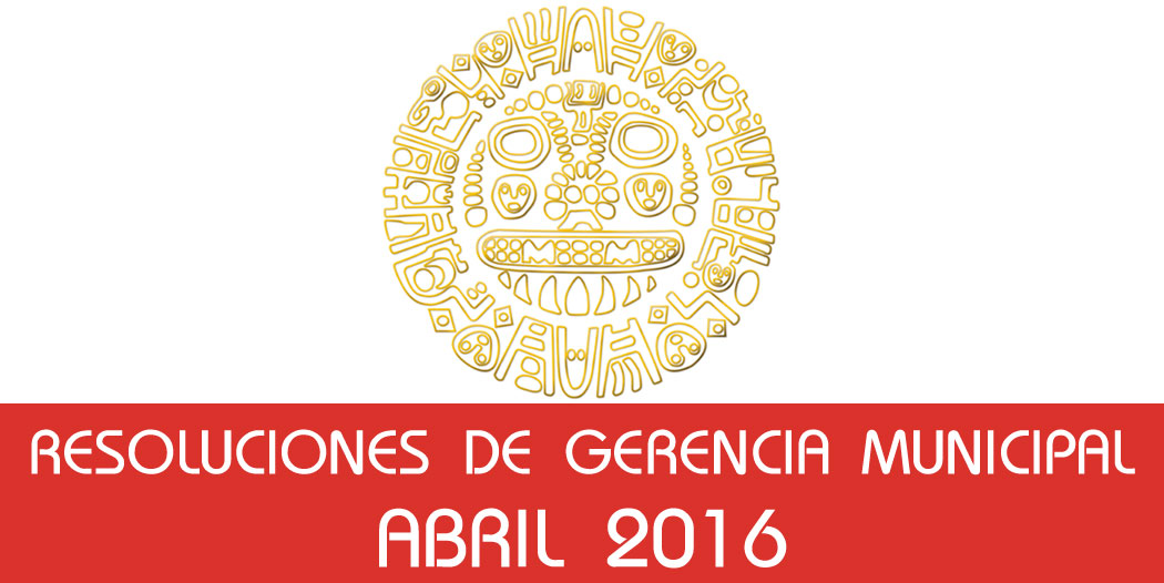 Resoluciones – Abril 2016