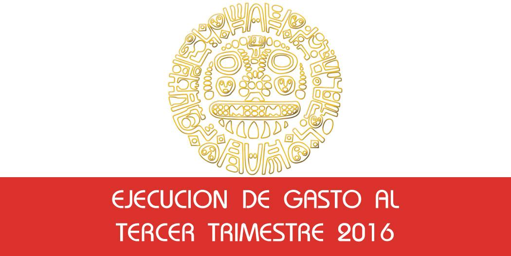 Ejecucion de Gasto al Tercer Trimestre 2016