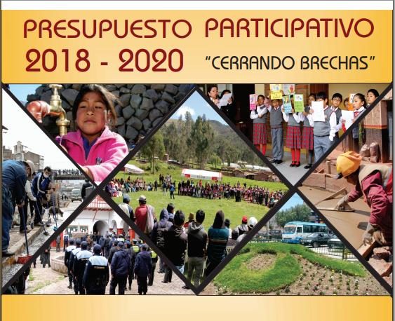 Presupuesto Participativo Multianual 2018 – 2020 «Cerrando Brechas»