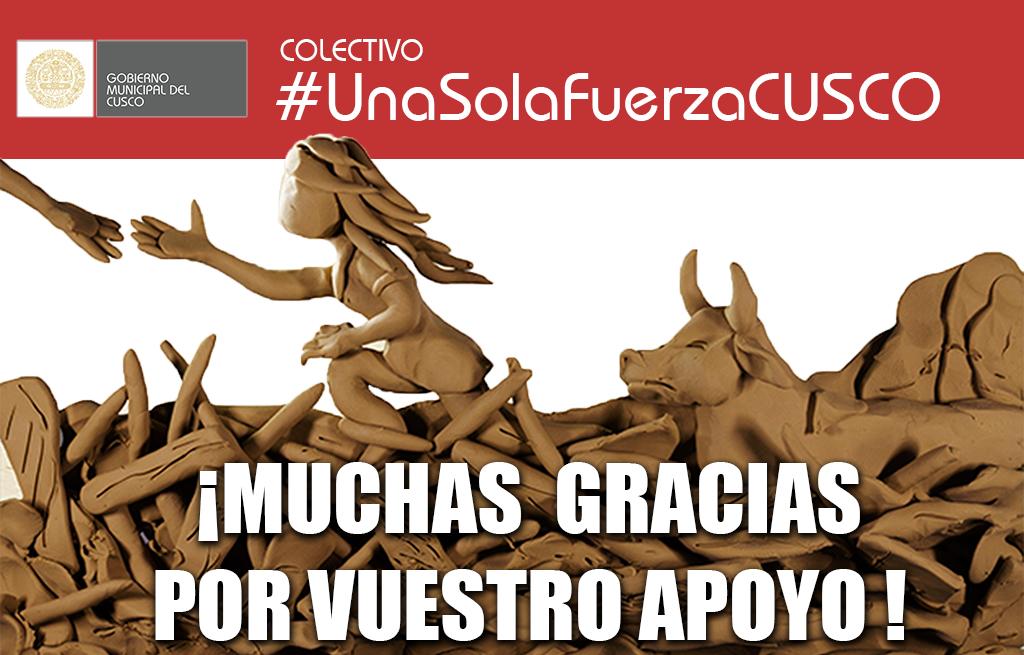 """MUNICIPALIDAD PROVINCIAL DEL CUSCO REALIZARÁ RECONOCIMIENTO AL COLECTIVO """"UNA SOLA  FUERZA CUSCO"""""""