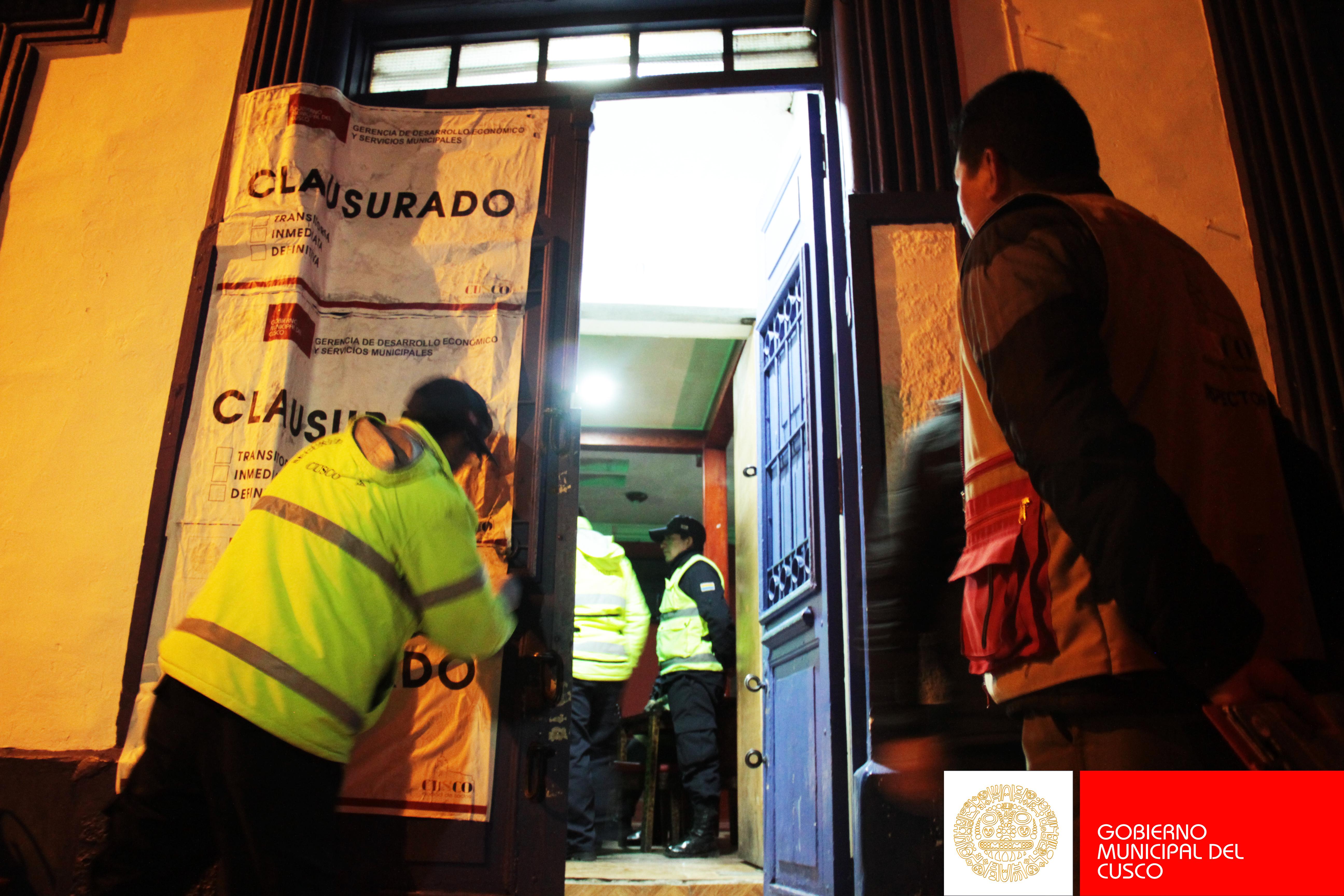 CLAUSURA DE  DISCOTECA  «EL VIRREY» EN EL  CENTRO  HISTÓRICO DEL CUSCO