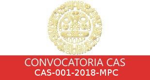 Convocatorias CAS-001-2018-MPC