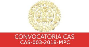 Convocatorias CAS-003-2018-MPC