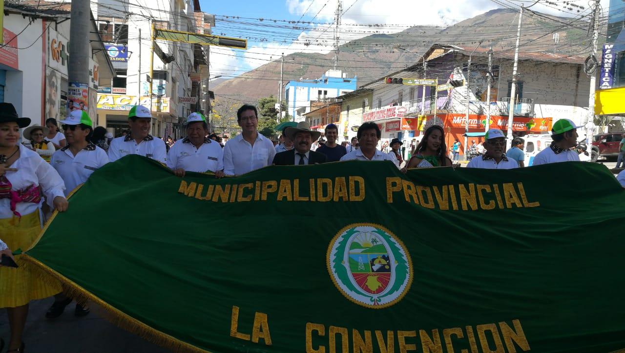 ALCALDE DE CUSCO PARTICIPA EN ACTIVIDADES DE HOMENAJE A QUILLABAMBA
