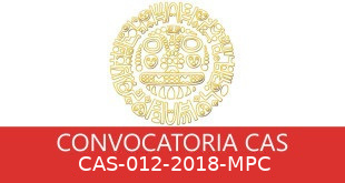 Convocatorias CAS-012-2018-MPC